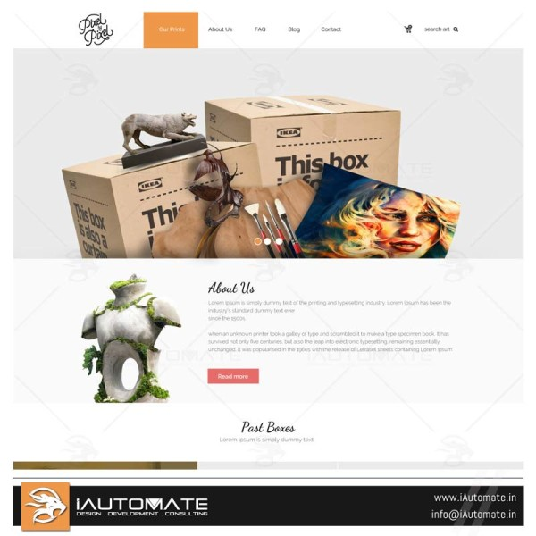 Art Ecommerce Web Template design and development