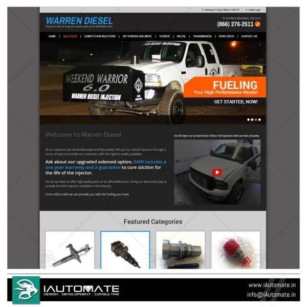 Auto Parts Dealer website