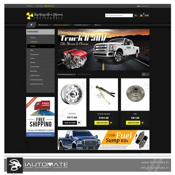 Auto parts ecommerce shop prestashop