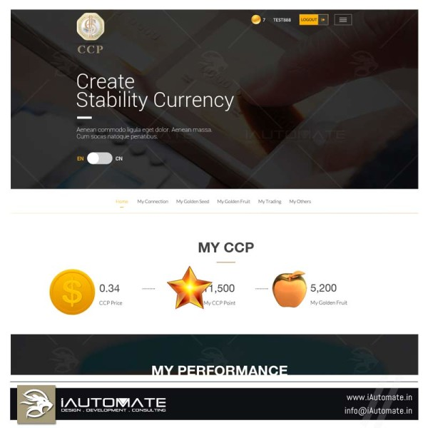 BIT COIN FOREX  UI Design and Development