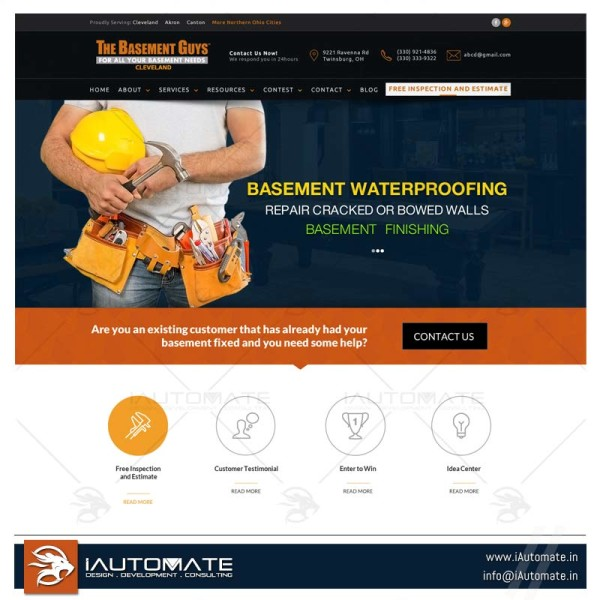 Basement services website design