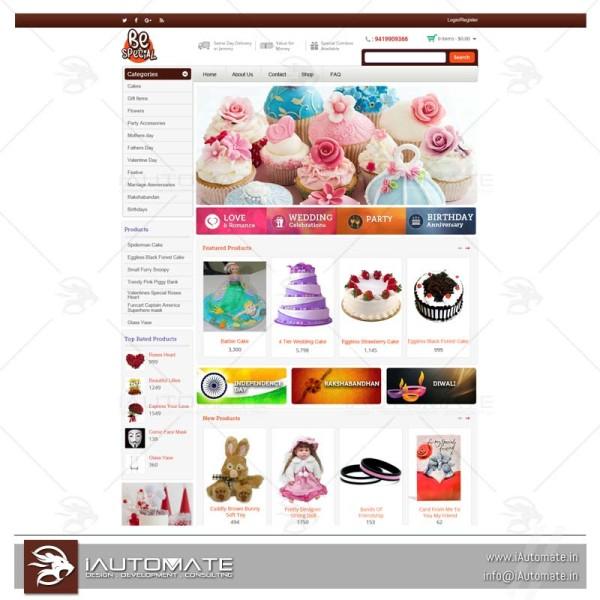 Online Cake Shop Ecommerce