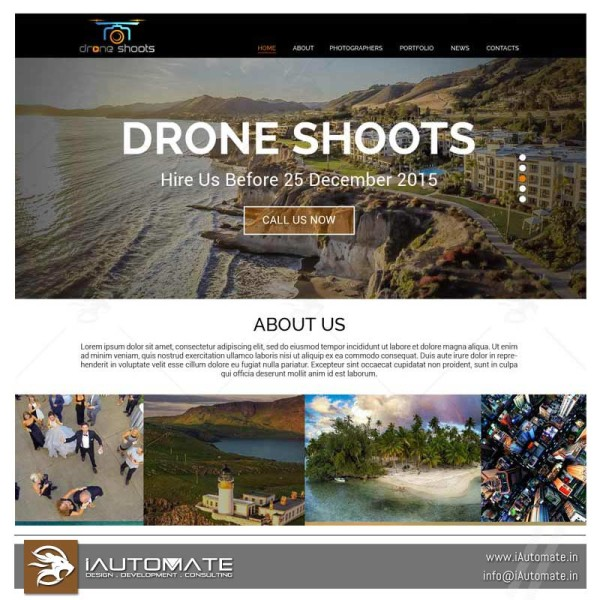 Drone Photography webdesign