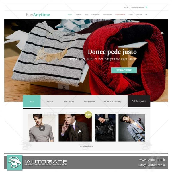 Ecommerce websites templates design