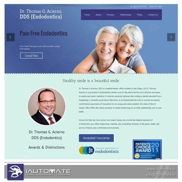 Endodontics web design
