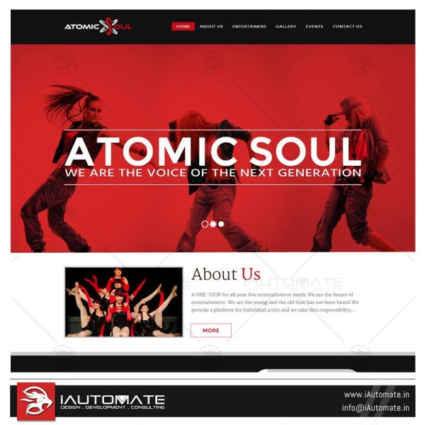 Entertainment Group Website Design