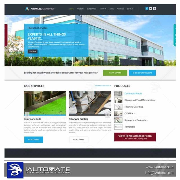 Fabrication and Templates company website