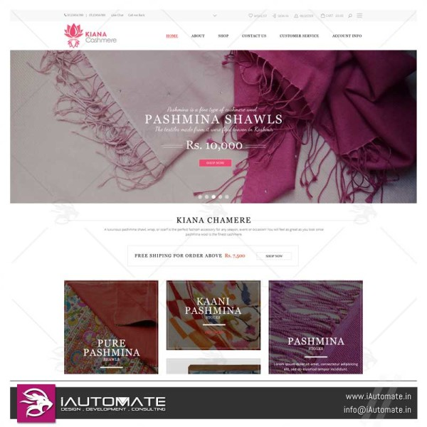 Handloom Ecommerce webdesign