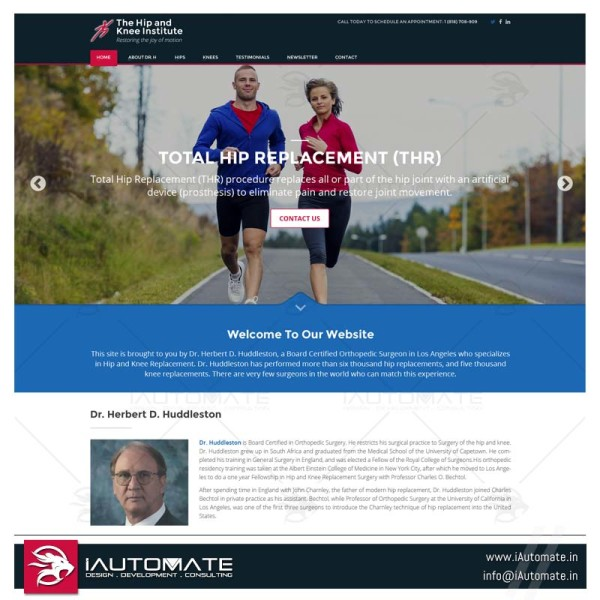 Hip Knee surgeon web design
