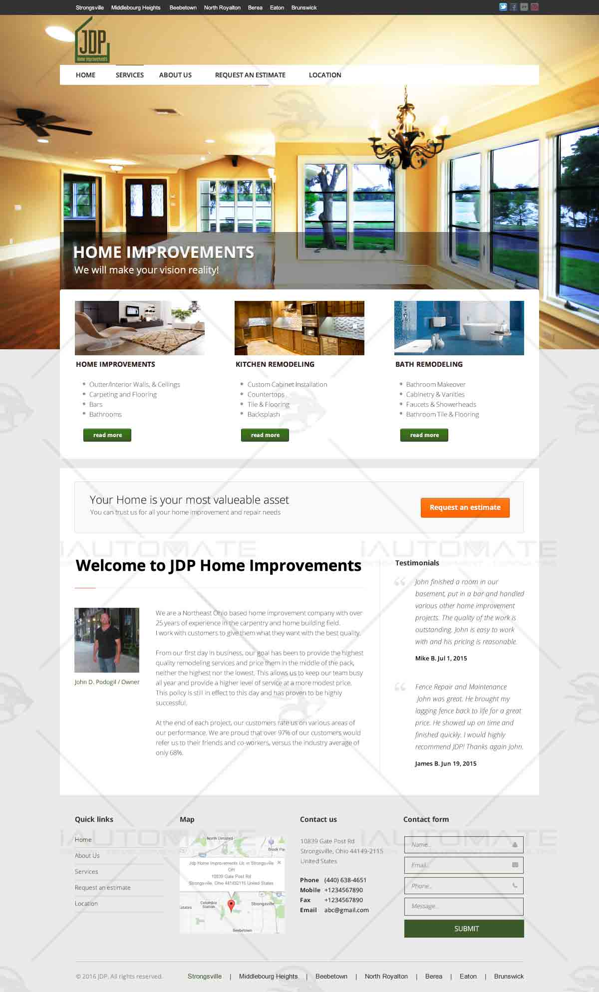 home improvement website design home and landscaping design