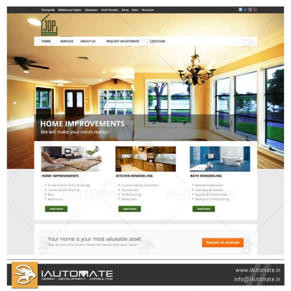 Home Improvements and contractors website design