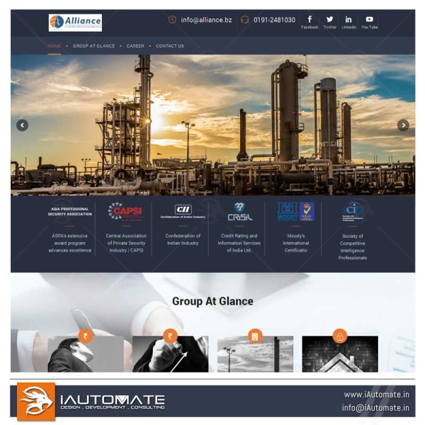 Industralist group of companies website