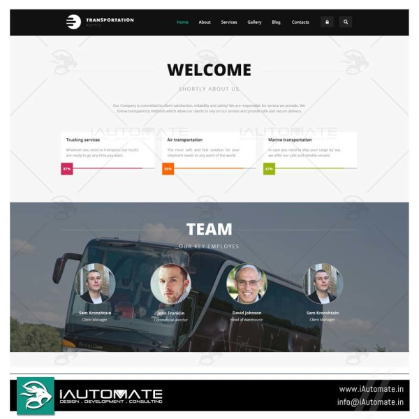 International National transportation web design