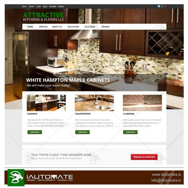 Kitchen Products and Remodeling services website