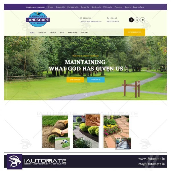 Landscapers Lawn mowers webdesign