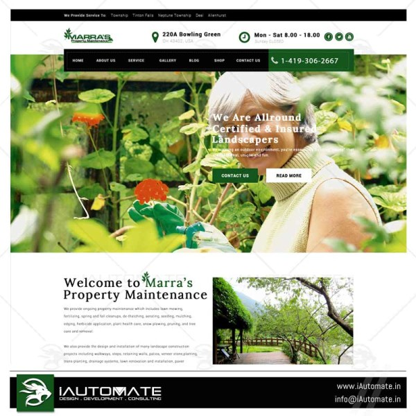 Landscapers and lawn mowers wordpress