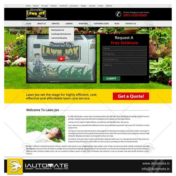 Lawn care web template design