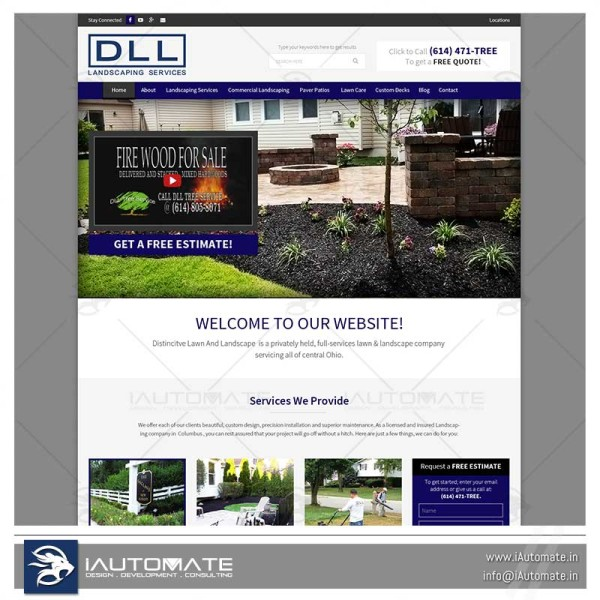 Lawn scape and landscaping