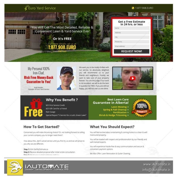 Lawncare Landscaping web design