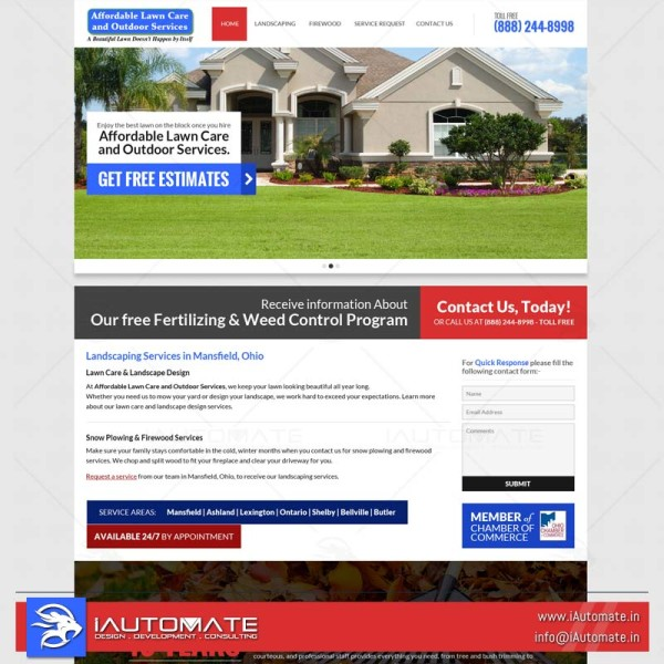Lawncare Mowers web design