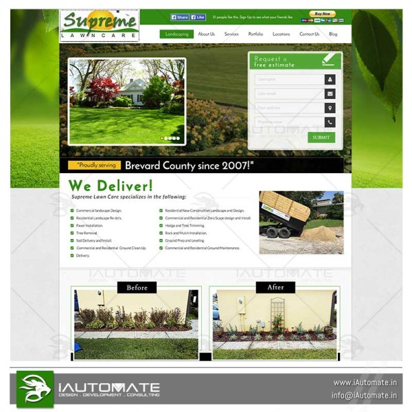 Lawncare Turf website design