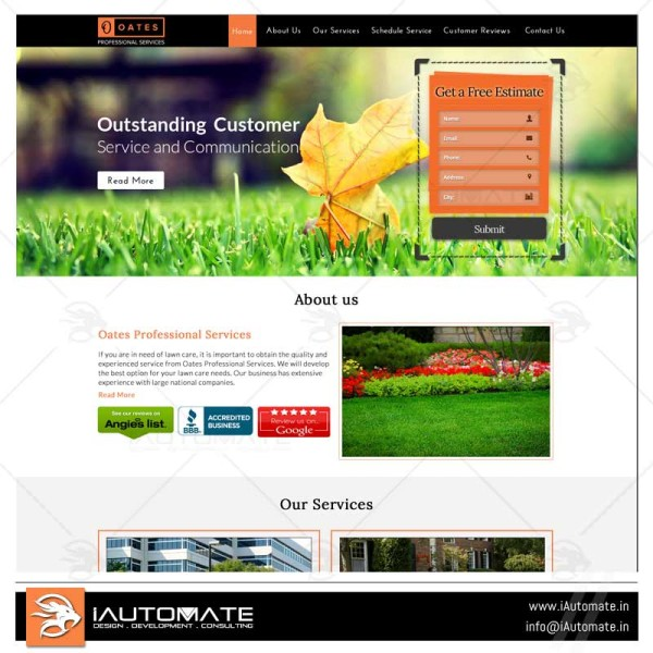 Lawncare landscaping wordpress development