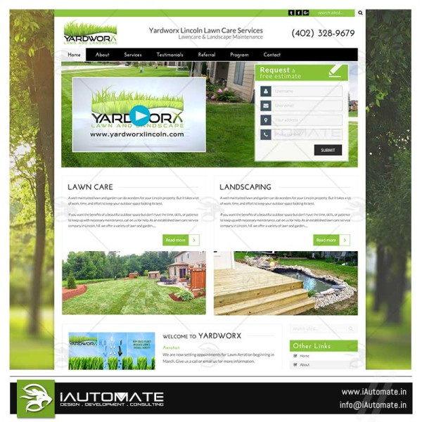 Lawncare website