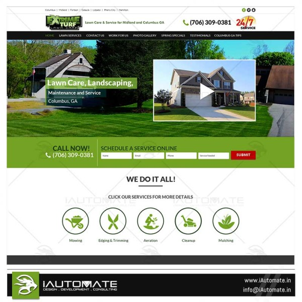 Lawnmowers and Landscapers web design
