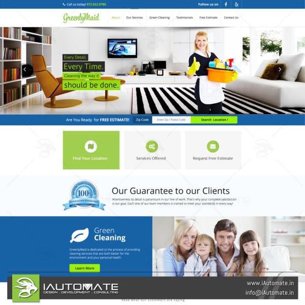 Local Maid Services website