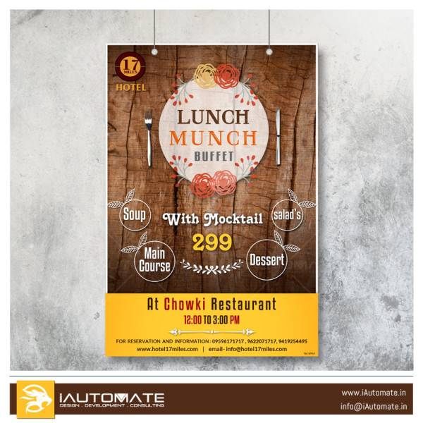 Lunch Buffet Poster Design