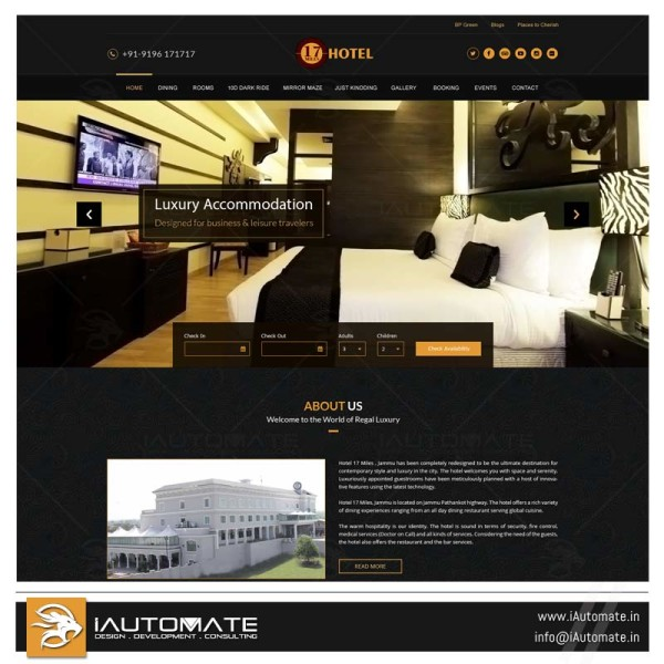 Luxury Hotel Jammu web design