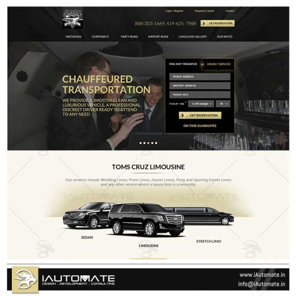Luxury Limo services website