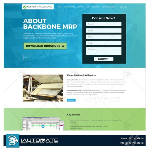 MRP Software solution website design and development