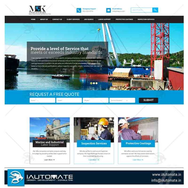 Marine Services and Consulting website