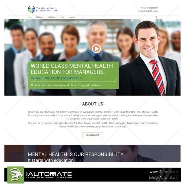 Mental Health Education web design