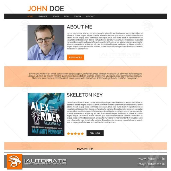 Multi Book author web page design
