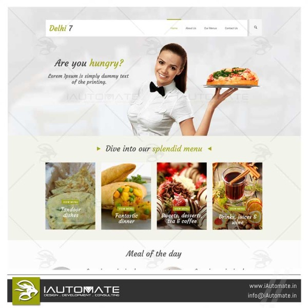 New zealand Resturant website design