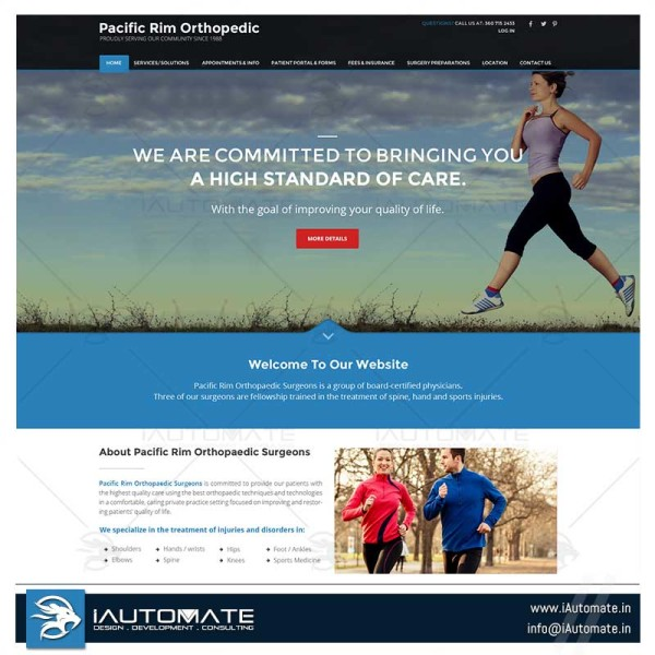 Orthopedic clinic and surgeries website