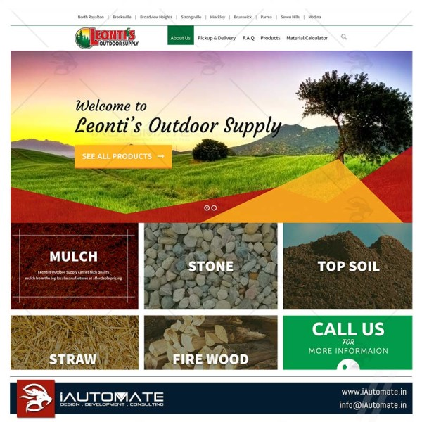 Outdoor supply's website design