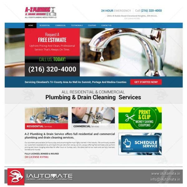Plumbing plumbers webdesign