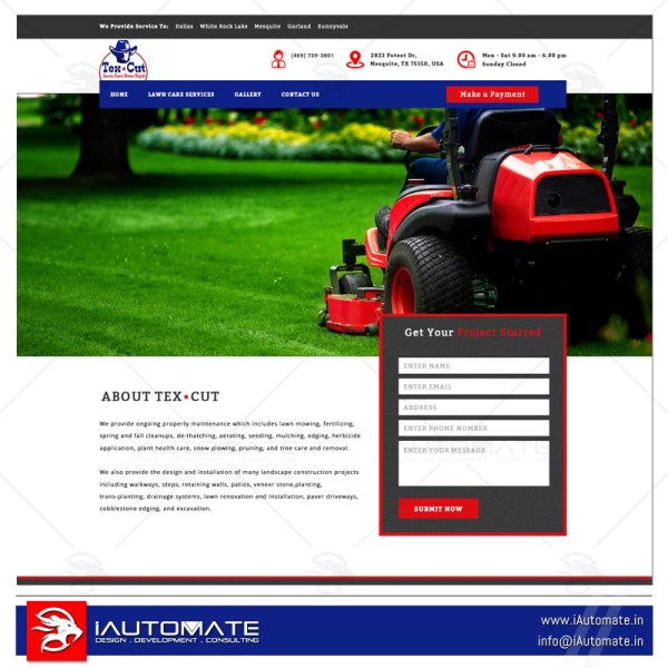 Premium Lawnmowers wordpress design