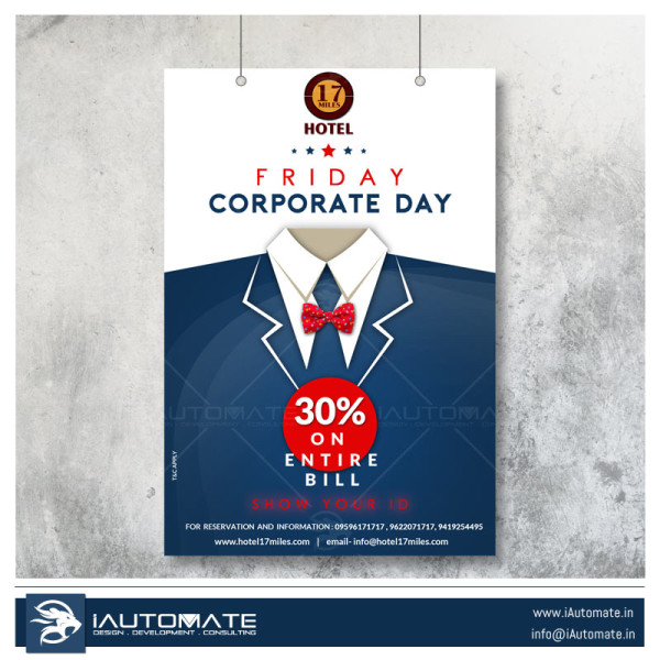 Restaurant corporate Discount flyer Design