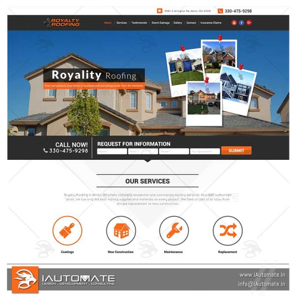 Roofing and consulting services website