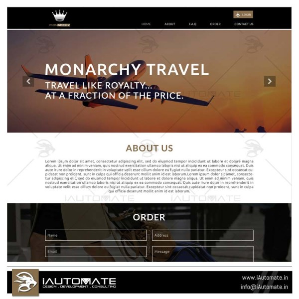 Simple Traveling landing page
