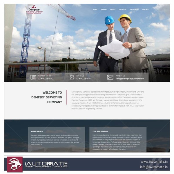 Surveying company wordpress website