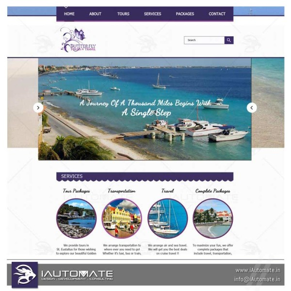 Travel agency WordPress webdesign