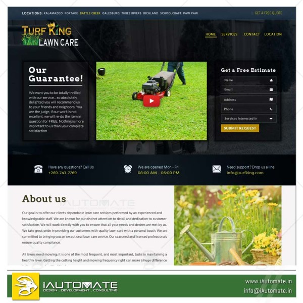 Turf and Landscaping wordpress website