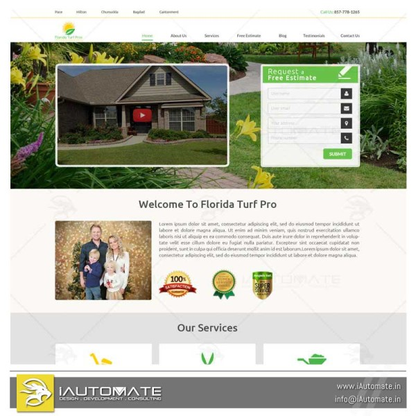 Turf lawn webdesign wordpress