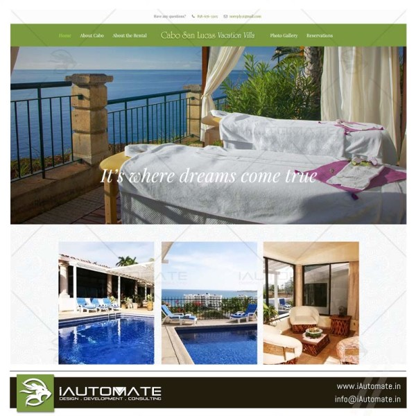 Vacation Villa Webdesign