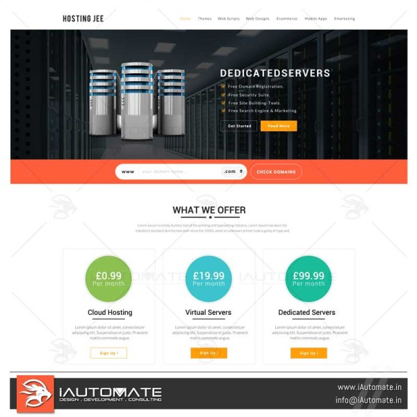 Web Hosting company website